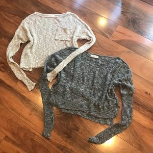 HOLLISTER knit sweater bundle
